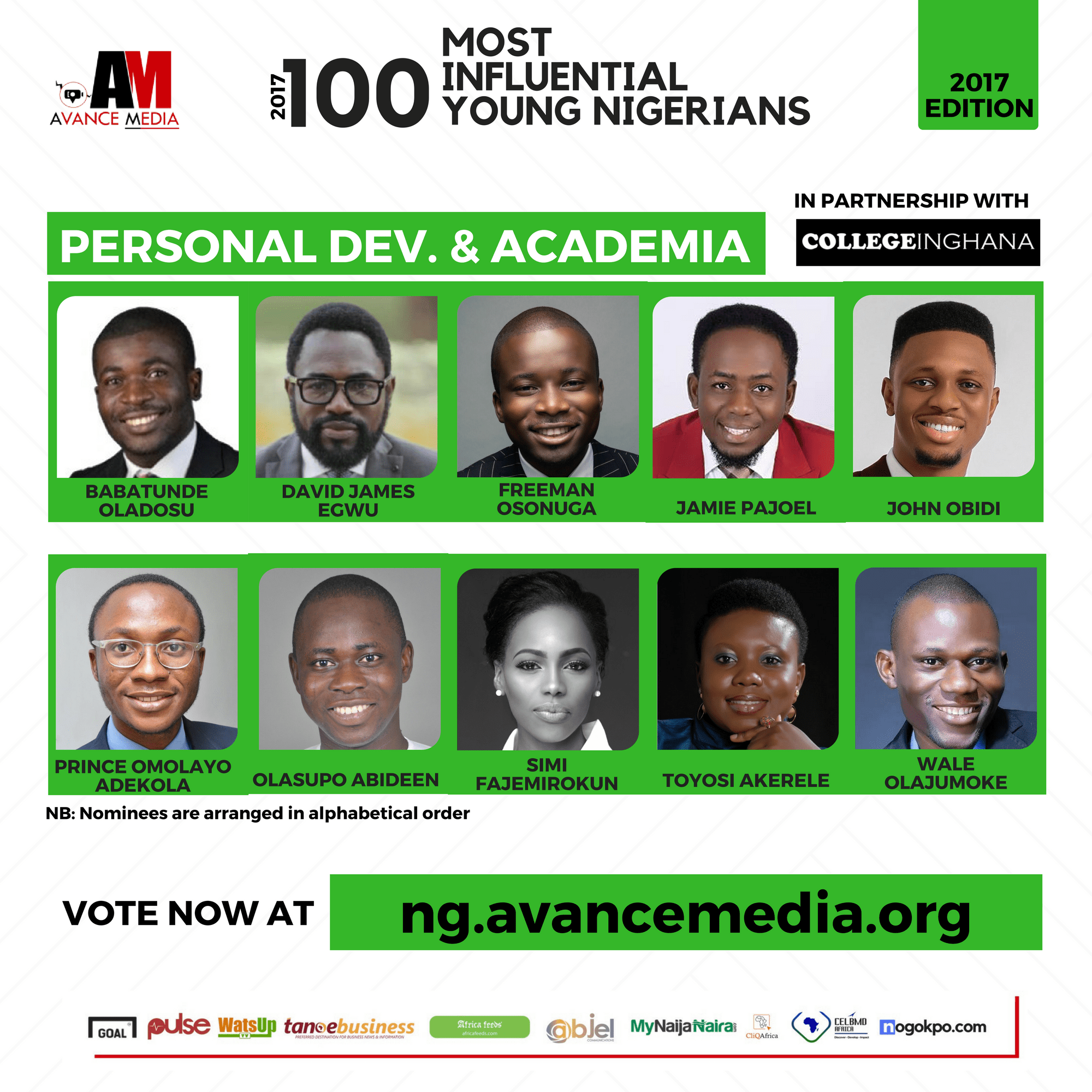 2017 100 Most Influential Young Nigerians